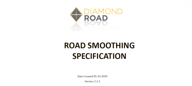 Road Smoothness Index - Specification
